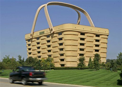 For Sale: 7 Story Longaberger Building Shaped Like Giant Basket