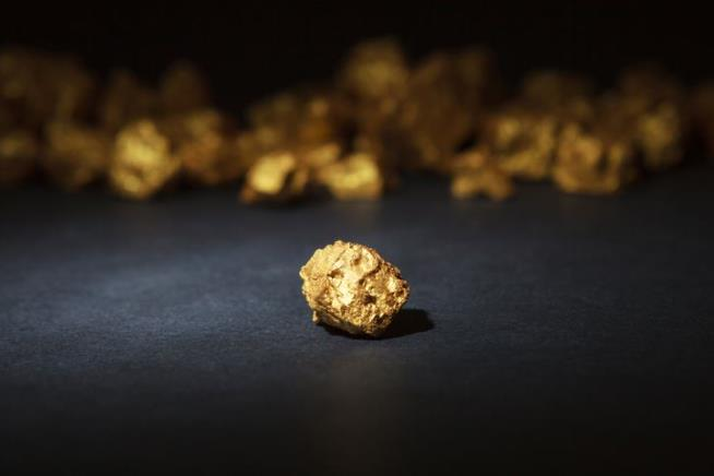 Sweet Find on Mother's Day Stroll: a Gold Nugget