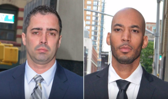 Two New York ex-policemen walk free after sex with handcuffed suspect