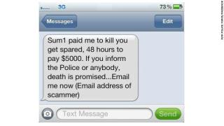 scary new text scam pay or die