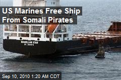US Marines Free Ship from Somali Pirates