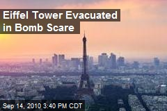 Eiffel Tower Evacuated in Bomb Scare