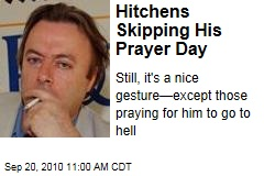 Christopher Hitchens Not Praying on 'Everybody Pray for Hitchens Day'