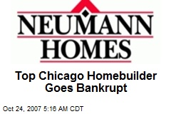Top Chicago Homebuilder Goes Bankrupt