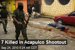 7 Killed in Acapulco Shootout