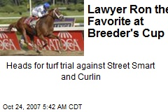 Lawyer Ron the Favorite at Breeder's Cup