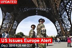 US Issues Europe Alert