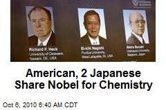 American, 2 Japanese Share Nobel for Chemistry