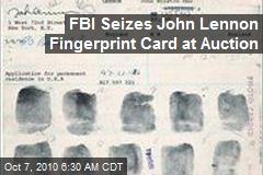 FBI Seizes John Lennon Fingerprint Card at Auction
