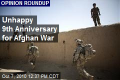 Unhappy 9th Anniversary for Afghan War