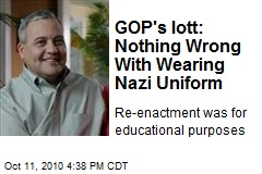 GOP's Iott: Nothing Wrong With Wearing Nazi Uniform