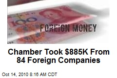 Chamber Took $885K From 84 Foreign Companies
