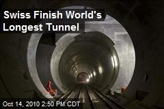 Swiss Finish World's Longest Tunnel