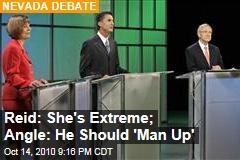 Reid: She's Extreme; Angle: He Should 'Man Up'