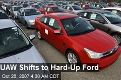UAW Shifts to Hard-Up Ford