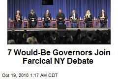 7 Guv Hopefuls Join Farcical NY Debate