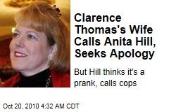 Clarence Thomas's Wife Calls Anita Hill, Seeks Apology