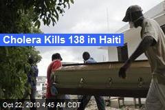 Cholera Kills Over 100 in Haiti