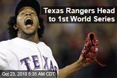 Texas Rangers Head to 1st World Series