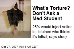 What's Torture? Don't Ask a Med Student