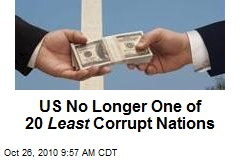 US No Longer One of 20 Least Corrupt Nations