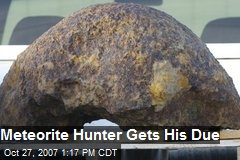 Meteorite Hunter Gets His Due