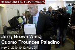 Jerry Brown Wins; Cuomo Trounces Paladino