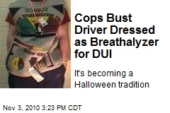 Cops Bust Driver Dressed as Breathalyzer for DUI