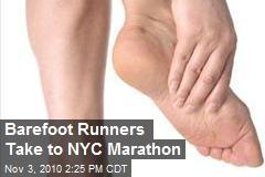 Barefoot Runners Take to NYC Marathon