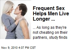 Frequent Sex Helps Men Live Longer ...