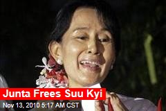 Junta Frees Suu Kyi