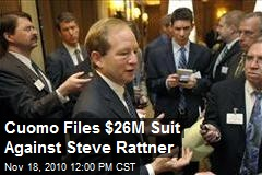 Cuomo Files $26M Suit Against Steve Rattner