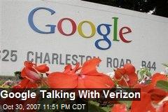 Google Talking With Verizon