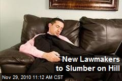 New Lawmakers to Slumber on Hill
