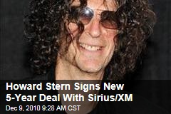 Howard Stern Signs New 5-Year Deal With Sirius/XM