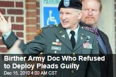 Terrence Lakin, 'Birther' Army Doc, Pleads Guilty
