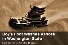 Boy's Foot Washes Ashore in Washington State