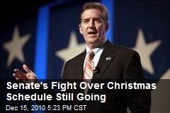 Senate's Fight Over Christmas Schedule Still Going