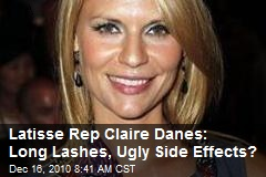 Claire Danes: Long Lashes, Ugly Side Effects?