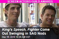 King's Speech, Fighter Come Out Swinging in SAG Nods