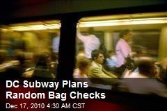 DC Subway Plans Random Bag Checks