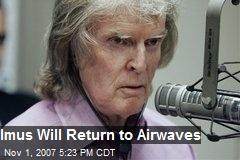 Imus Will Return to Airwaves