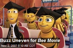 Buzz Uneven for Bee Movie