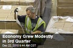Economy Grew Modestly in 3rd Quarter