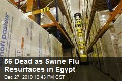 56 Dead as Swine Flu Resurfaces in Egypt