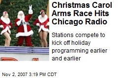 Christmas Carol Arms Race Hits Chicago Radio