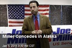 Miller Concedes in Alaska
