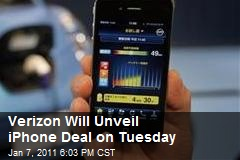 Verizon Will Unveil iPhone Deal on Tuesday