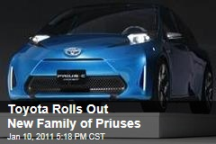 Toyota Rolls Out New Family of Priuses