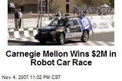 Carnegie Mellon Wins $2M in Robot Car Race